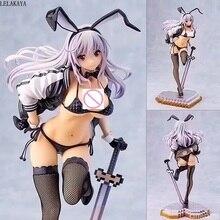 28cm Anime SKYTUBE Zimakupiza Yuu Usada illustration by Saitom With Sword Sexy Bunny Girl PVC action Figure model toys doll Gift