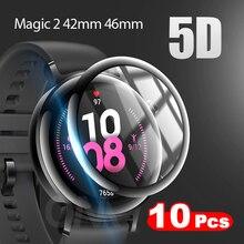 10 pçs borda curvada cobertura completa película protetora macia capa para huawei honor magic watch 2 42mm 46mm protetor de tela (não vidro)