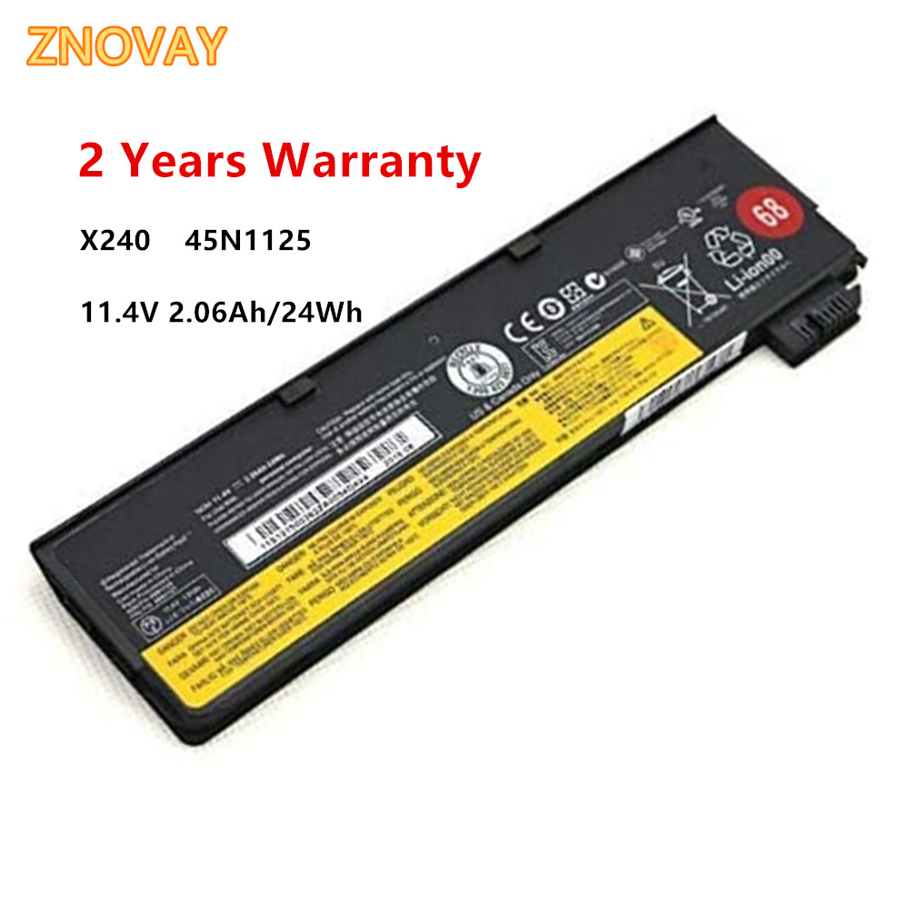 11.4V 2.06Ah 24Wh 45N1125 45N1126 45N1127 External Laptop <font><b>Battery</b></font> fit for <font><b>Lenovo</b></font> <font><b>T440</b></font> T440S X240 45N1128 45N1129 Notebook image