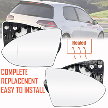 For Vw Golf Mk7 2013   2017 Left Right Heated Wing Mirror Glass Wide Angle Rear View Rearview Car Accessories Driver Passenger