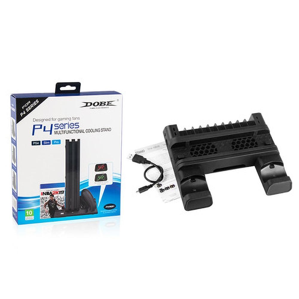PS4/ PS4 Pro/ PS4 Slim консоли вертикальная охлаждающая подставка контроллер Зарядная база 2 кулер 10 игр для хранения