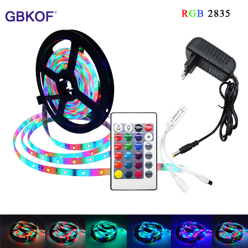 5M 300leds 2835 RGB White Cold Warm White Red Green Blue Yellow Colors IP65 Waterproof LED Strip DC12V Flexible Ribbon Tiras Led