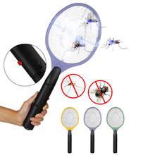 Electric Fly Swatter Home Mosquito Bug Zapper Kills Mosquitoes Safety Anti Mesh Cordless Use AA Battery New