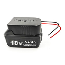 Li-Ion Battery Converter to DIY Cable Output Connection Adapter for Makita 18V For Bosch 18V Lithium Battery Accessories
