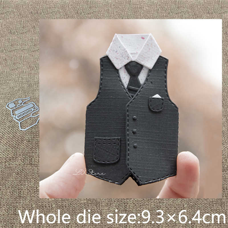 Vest Tie Metal Cutting Dies Stencil DIY Scrapbooking Embossing Album Paper Card