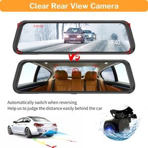 Image 5 - Deelife espelho dvr gravador traço cam 10 full tela cheia hd 1080p câmera espelho retrovisor do carro com retrovisor de vídeo registrador