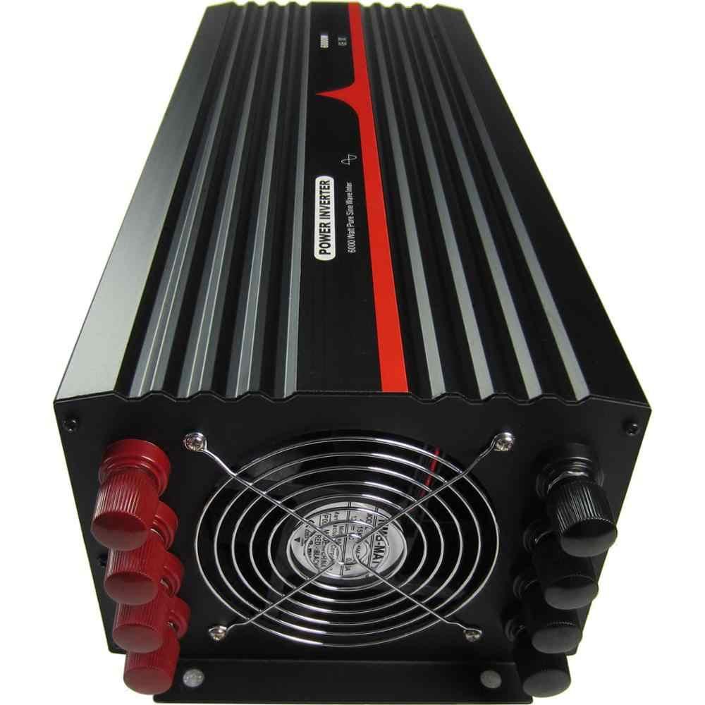 6000VA/6000 واط/6KW مرحلة واحدة نقية شرط موجة العاكس 12 فولت 24 فولت 48 فولت تيار مستمر إلى 100 ~ 120VAC ، 220 ~ 240VAC الناتج التردد الصناعي
