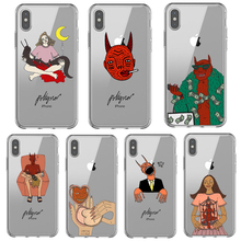 Buy Polly Nor Painting Art Soft Silicone Transparent Phone Case for iPhone 5 5S x 6 7 8 Plus X XS MAX XR Aesthetic Women Devil Cover directly from merchant!