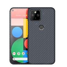Pure Real Carbon Fiber Case For Google Pixel 5 Pixel5 Pixel 4A 5G Case Aramid Fiber Ultra Thin Shockproof Business Phone Cover