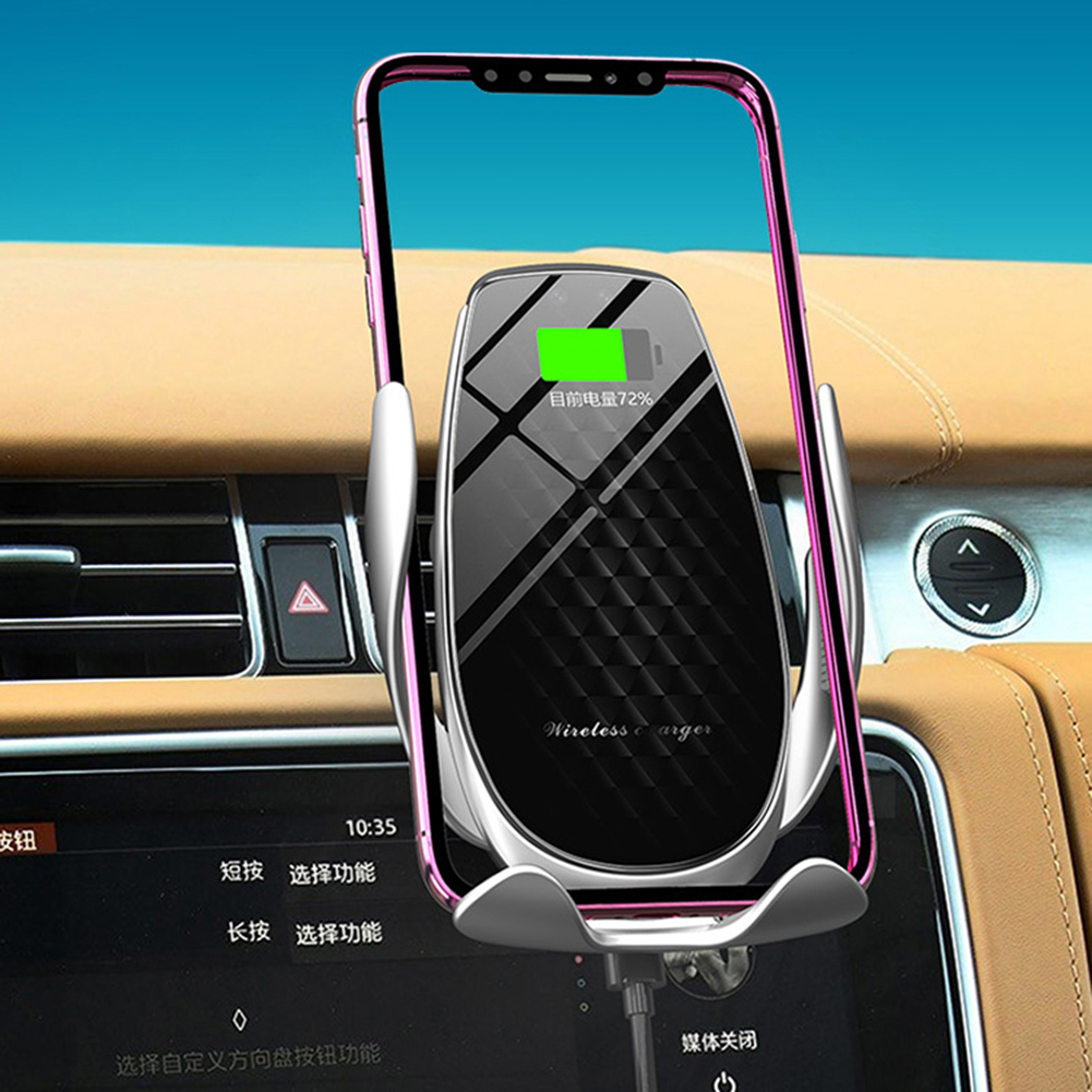 V3 15W Fast Charging Infrared Sensor Automatic Clamping Wireless Charger PhoneHolder Mount Car Charger For IPhone Huawei Samsung