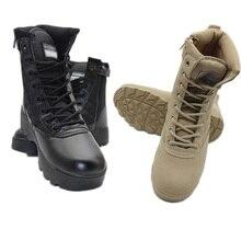 التكتيكية الأحذية العسكرية الرجال أحذية جيش الصحراء التنزه التدريب أحذية مضادة للماء في الهواء الطلق القتال تسلق الصيد أحذية رياضية
