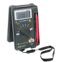 With Test Leads nNew VC921 Multimeter LCD Display DMM Integrated  Handheld Pocket Mini Digital Multimeter