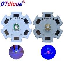 10 50 個 3 ワット 3535 ハイパワー LED 、 UV パープルライトチップ 365nm 385nm 395nm 420nm エミッタダイオードウルトラバイオレット DIY