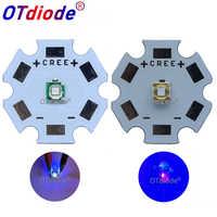 10-50 Uds 3W 3535 de alta potencia de LED UV luz púrpura Chip 365nm 385nm 395nm 420nm emisor de Ultravioleta DIY