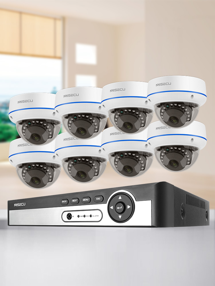 MISECU Nvr-Kit Camera H.265cctv-System Surveillance-Set POE IP Indoor 1080P 8CH 4CH Audio-Record