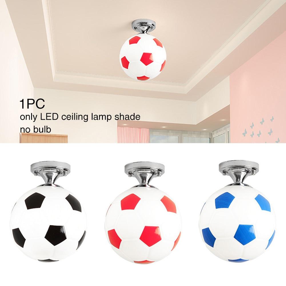 Modern Balcony Football Shape Kids Room Home Decor For Boys Chandelier Children Coffee Bar Lighting Fixture LED Ceiling Light