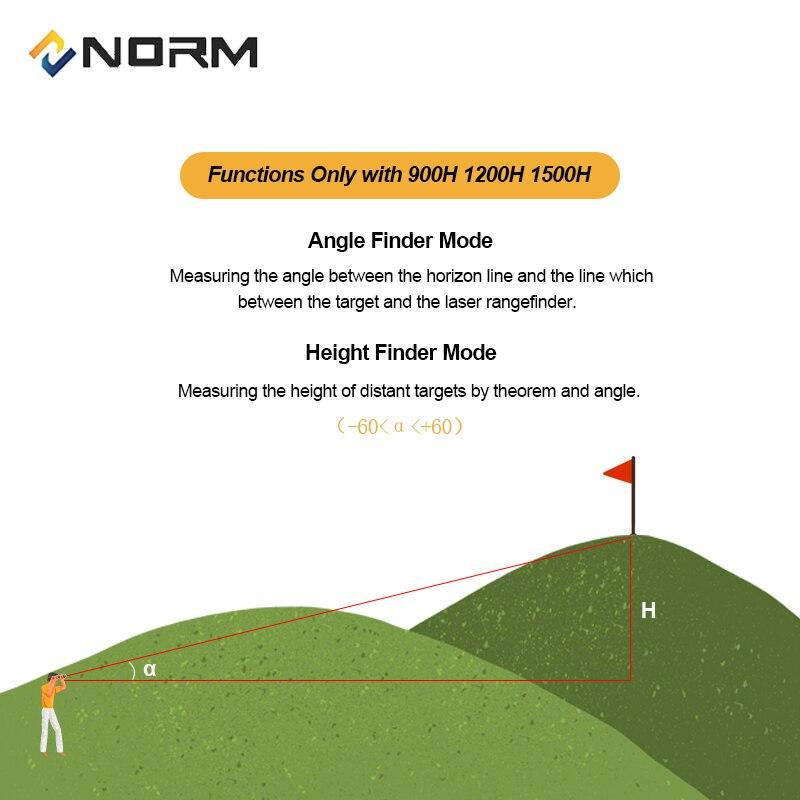 Image 3 - NORM Laser Rangefinder 600M 900M 1200M 1500M Laser Distance Meter for Golf Sport, Hunting, Survey-in Laser Rangefinders from Tools