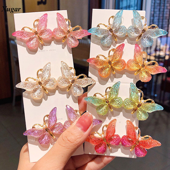 2020 New Cute Colorful Butterfly Barrettes Hair Clips For Women Fashion Hair Ornament Girls Hairpins Hair Accessories new women girls cute hairpins for kids bow colorful braid hair clips children sweet headband barrettes fashion hair accessories