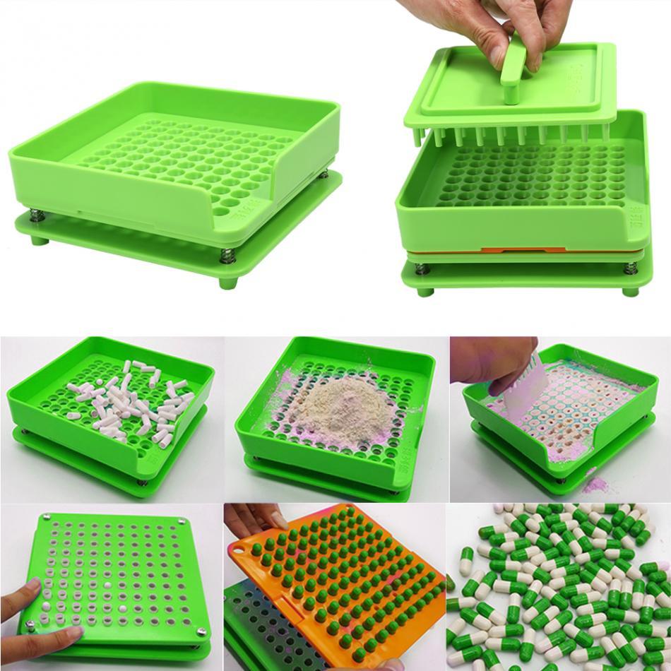 100/200 Holes Manual Capsule Powder Maker #0 #00 #000 #1 #2 #3 #4 #5 Pharmaceutical Filler Plate Machine Size 0,00,000,1,2,3,4,5