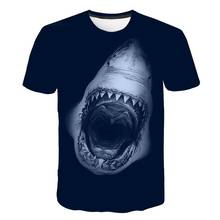Marine shark and octopus costumes. 2019 T-shirt. 3D printed men's T-shirt couple short sleeve