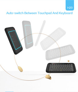 Image 3 - H20 Mini Wireless Keyboard Backlight Touchpad Air mouse IR Leaning Remote control For Andorid BOX Smart TV Windows PK H18 Plus