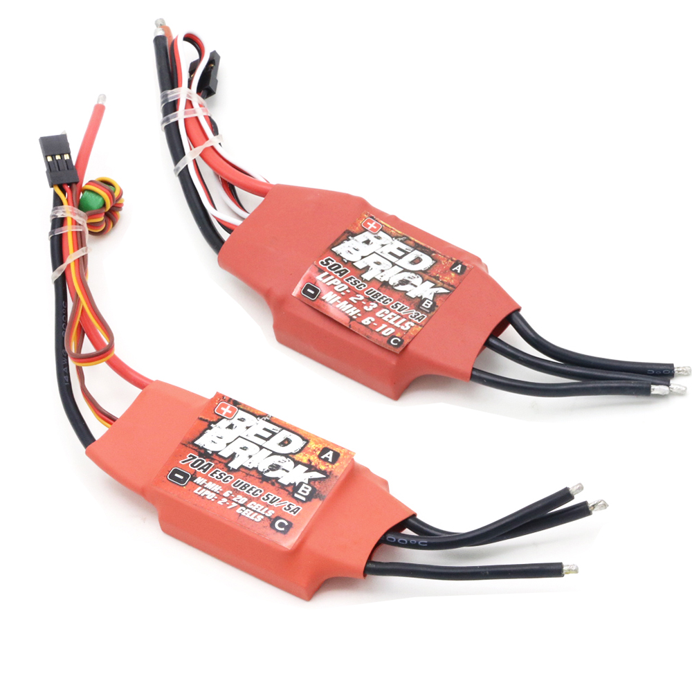 Image 4 - 1pcs Red Brick ESC 50A/70A/80A/100A/125A/200A Brushless ESC Electronic Speed Controller 5V/3A 5V/5A BEC for FPV Multicopter-in Parts & Accessories from Toys & Hobbies
