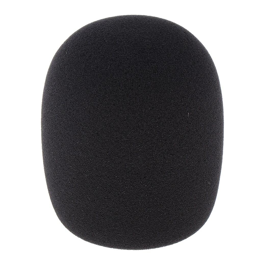 Large Size Microphone Mic Sponge Foam Cover Mic For Condenser Mic 5cm Dia