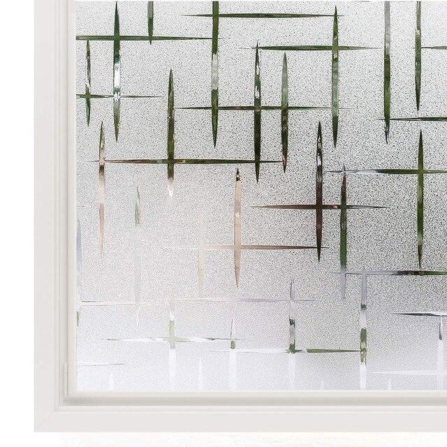 Window 3D Privacy Film Static Window Clings Vinyl Window Decals Window Sticker for Glass Door Home Heat Control Anti UV 1