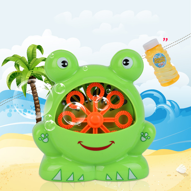 Automatic frog bubble machine toy Childrens bath companion Electric Blowing Bubble-containing water