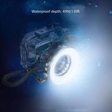 Seafrogs SL 108 67 millimetri Impermeabile Fotografia Subacquea di Immersione Subacquea LED Anello di Luce del Flash Lampada per TG5 A6500 A6300 Case Custodia Della Macchina Fotografica