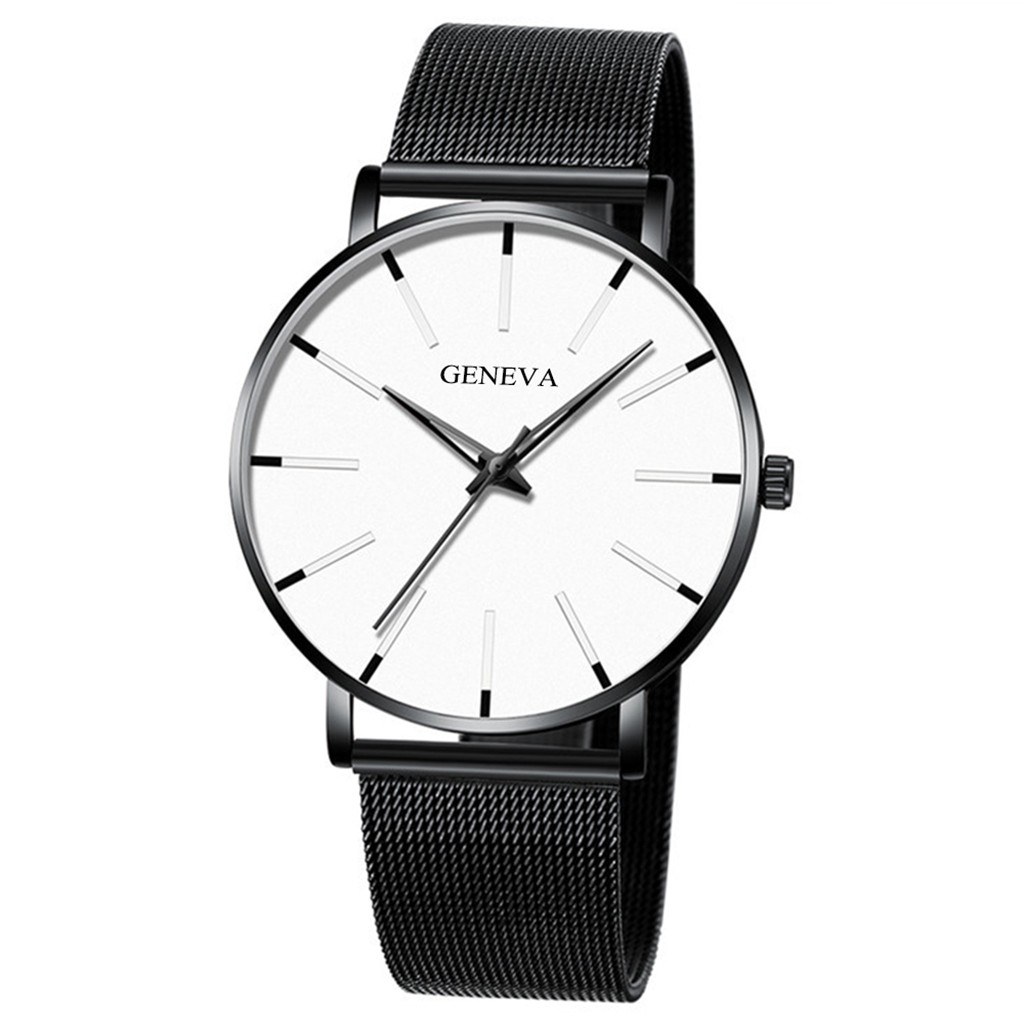 Geneva Classic Hot Luxury Business Unisex Men Stainless Steel Analog Quartz Watch Wholesale Dropshipping Reloj Hombre