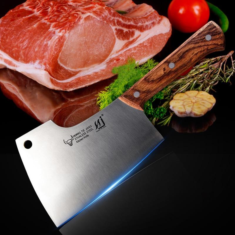 Нож для резки костей, сверхмощный кухонный нож, нержавеющая сталь, 7,5 дюйма, нож для мясника, нож для нарезки мяса, овощей, Кливер, нож шеф-пова...