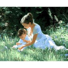 Gatyztory краска по номерам для взрослых детей семейная картина