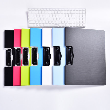 Colorful Plastic Clip File Folder A4 Office File Organizer School Paper Folder For Documents