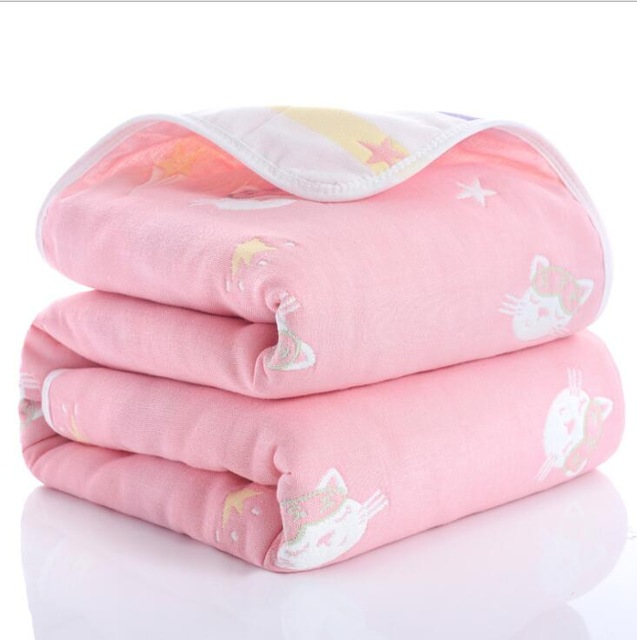 Lazychild Summer Baby Thin Quilt Newborn Comforter Baby Six-layer Gauze Bath Towel For Children Baby Blankets