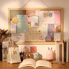 Photo Wall Soft Wooden Letter Message Board Decorative Postcard Cork Board Memo Paper Background Board Stationery Office Supplie