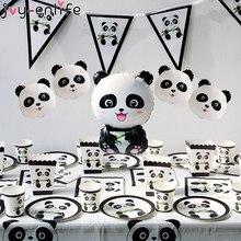 Alegria-Enlife 1Pc Panda Balões De Aniversário Festa De Aniversário Decoração Crianças Bambu Animal Balão Inflável Panda Bebê Chuveiro Partido