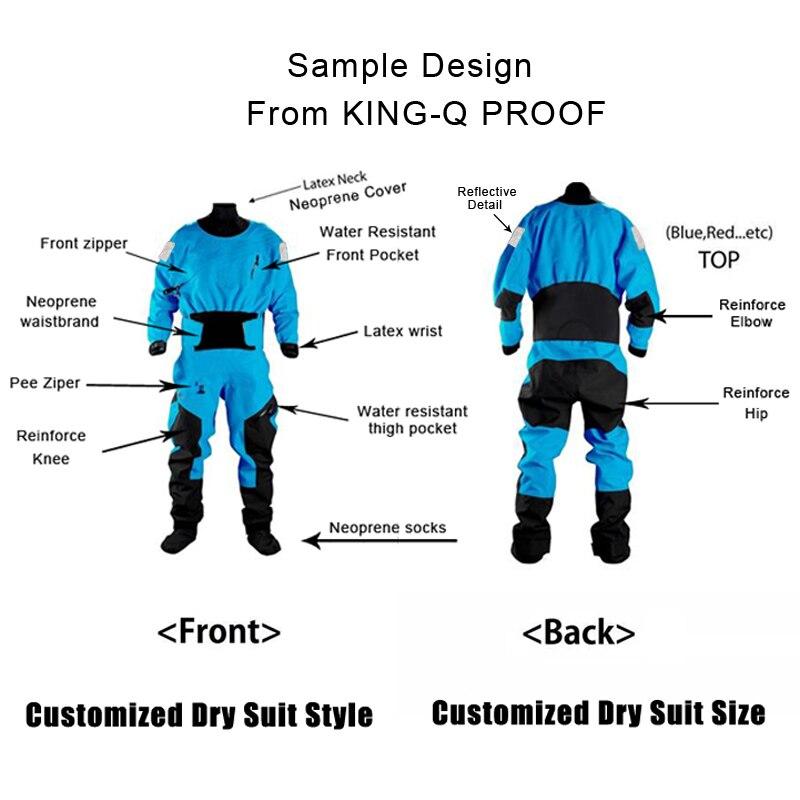 Combinaison sèche de Kayak personnalisé/cuissardes pour votre conception/taille fabricant de combinaison étanche vêtements néoprène costume pour femmes hommes