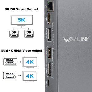 Image 3 - محطة إرساء عالمية USB C من الألمونيوم Wavlink بمنفذ USB 3.0 فائق 5K مزدوج 4K @ 60 هرتز عالي الدقة متعدد شاشة HDMI/Windows إيثرنت جيجابت
