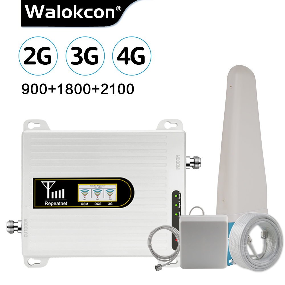 2019 New Upgrade Cellular Amplifier GSM Repeater 2g 3g 4g GSM 900 4G LTE 1800 3G UMTS WCDMA 2100 MHz Mobile Signal Booster 70dB@