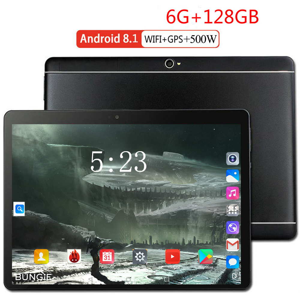 Youtube/Facebook/Play Store  Free 10 Inch Tablet PC 4G LTE 8 Core 3G 4G LTE 6GB RAM 128GB ROM Android 8.0 A-GPS Tablet PC 10.1