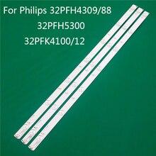 필립스 332PFH4309/88 용 LED TV 조명 32PFH5300 32PFK4100/12 LED 바 백라이트 스트립 라인 눈금자 GJ 2K15 D2P5 D307 V1 1.1