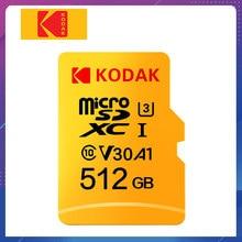 Kodak – carte Micro SD U3 A1 V30, 32 go/64 go/128 go/256 go/512 go/128 go/256 go, classe 10, carte mémoire pour téléphone