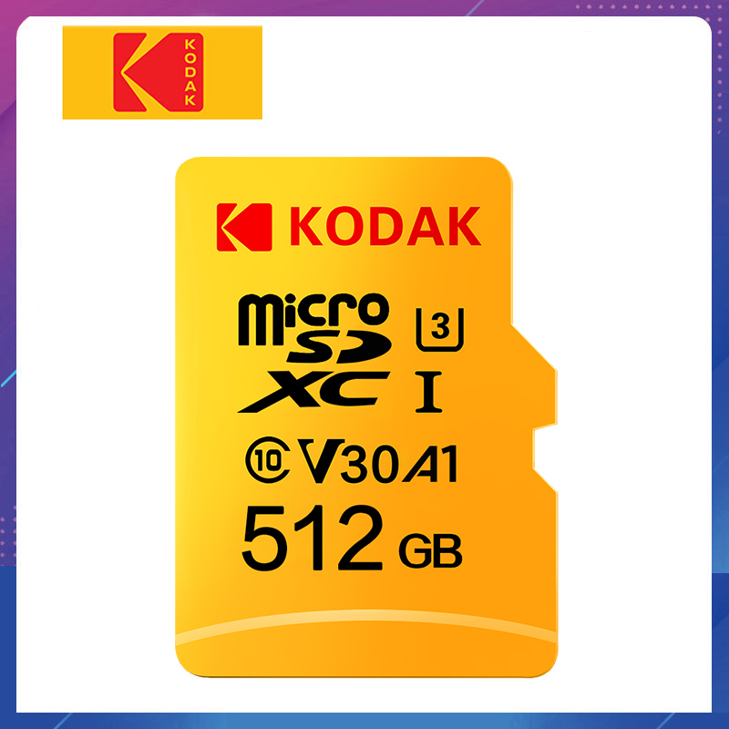 Original Kodak U3 A1 V30 Micro SD Karte 128GB 32GB 64GB 256 GB 512GB Klasse 10 speicher Karte 32 64 128 256 GB Video Telefon Speicher Karte|Micro-SD-Karten|   -