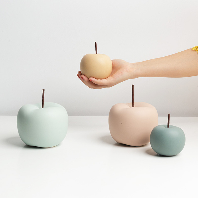 Modern Macaron Home Decor Ceramic Apple Figurines Fruit Arts & Crafts Home Decoration Accessories Sweet Tabletop Ceramic Statues 4
