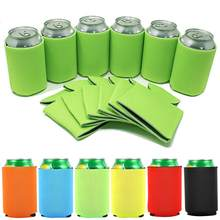 12PCS Beer Can Sleeve Cooler Sleeve Neoprene Insulated Foldable Bottle Cozy Beer Can Holder For Bar Water Cup Sleeve Accessories(China)