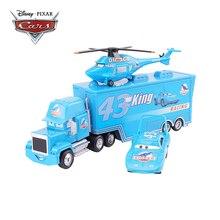 Disney Pixar Cars 2 3 Speelgoed Lightning Mcqueen Koning Vliegtuigen De Koning Mack Oom Truck 1:55 Diecast Model Auto Speelgoed kinderen Gift