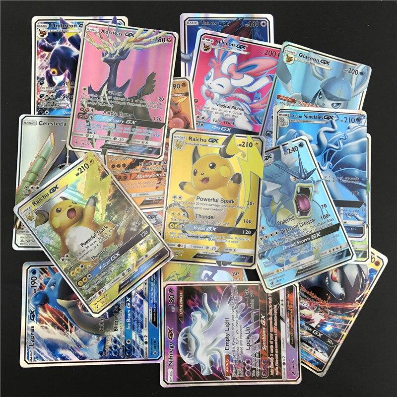 200 pièces GX 25 50 100 pièces MEGA cartes brillantes jeu bataille Carte cartes à collectionner jeu enfants jouet