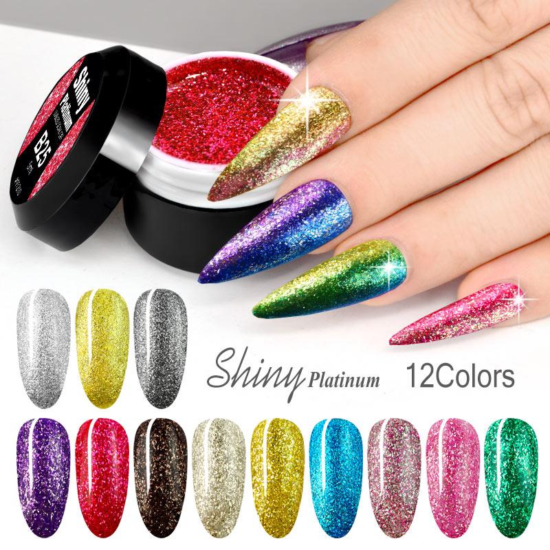 VENALISA Nail Art Glitter Pearl Super Color Gel Paints Crystal Lacquer Diamonds Soak Off Platinum UV LED Gel Nail Polish