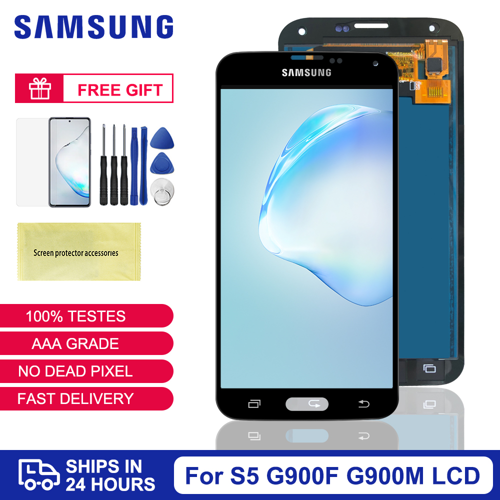 100% Test TFT For Samsung Galaxy S5 LCD Display Touch Screen Digitizer For Samsung S5 Display G900M G900F LCD Screen Replacement(China)